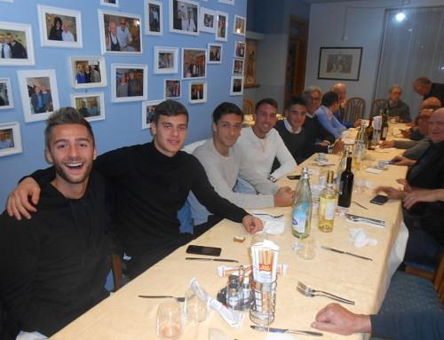"Cinque giocatori del Legnago al terzo raduno stagionale del Calcio Club ""Radio Scarpa"""