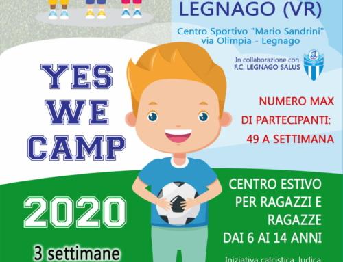 """""""Yes We Camp"""" edizione 2020: dal 15 giugno al 3 luglio allo stadio """"Sandrini"""""""
