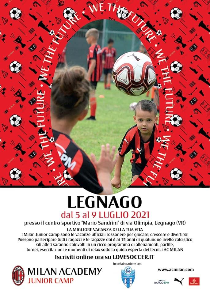 "Il ""Milan Junior Camp"" sbarca allo stadio ""Sandrini"""